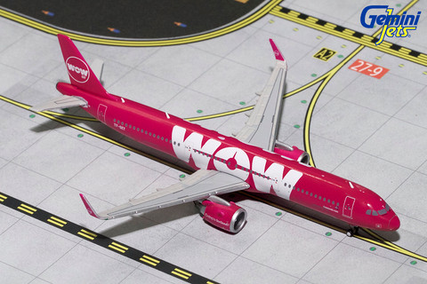 Gemini Jets WOW AIR Airbus A321 neo TF-SKY Scale 1/400 GJWOW1686