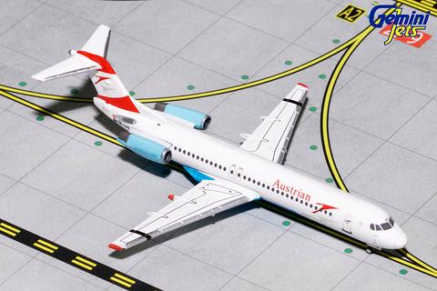 Gemini Jets Austrian Airlines Fokker 100 OE-LVE Scale 1/400 GJAUA1740