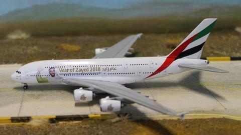 Gemini Jets Emirates Year of Zayed 2018 Airbus A380 A6-EUZ  Scale 1/400 GJUAE1747