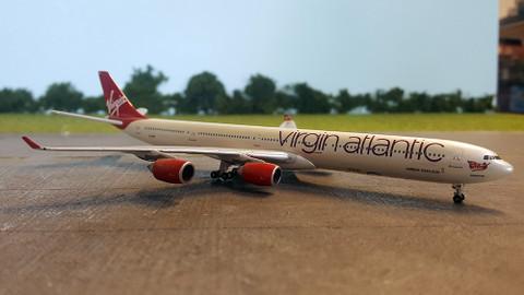 Gemini Jets Virgin Atlantic Airbus A340-600 G-VNAP Scale 1/400 GJVIR1083