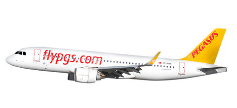 Herpa Wings Pegasus Airlines Airbus A320neo Scale 1/200 612029