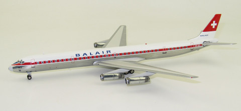 Inflight 200 Balair DC-8 Series 63 NB-IDZ with stand Scale 1/200 IFDC8630115