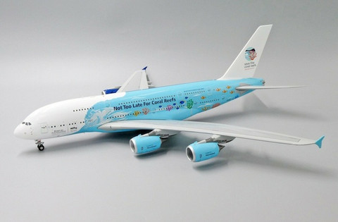 JC WIngs Hifly Airbus A380 Save the coral reefs Livery Reg: 9H-MIP With Stand Scale 1/200 JCEW2388004