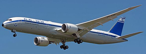 JC WIngs  El Al Israel Airlines Boeing 787-9 Dreamliner Retro Livery 4X-EDF With Stand Scale 1/200 JC2146