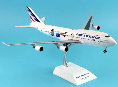 JC Wings Air France Boeing 747-400 World Cup 98 Livery F-GEXA With Stand Scale 1/200 JC2193