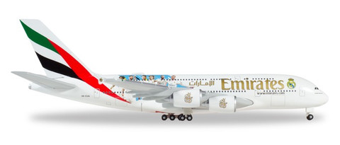 Herpa Wings Emirates Airbus A380 Real Madrid 2018 Scale 1/500 531931