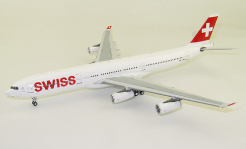 JFox Swiss Airbus A340-300 HB-JMA with stand Scale 1/200 JF-A340-002