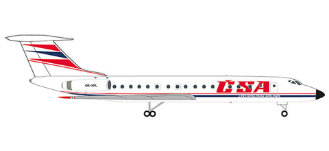 Herpa Wings CSA - Czechoslovak Airlines Tupolev TU-134A   Scale 1/500 532945