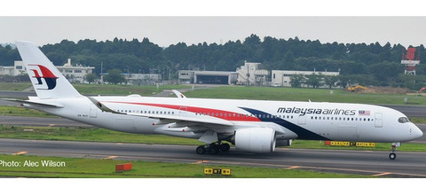 Herpa Wings Malaysia Airlines Airbus A350-900  Scale 1/500 532990