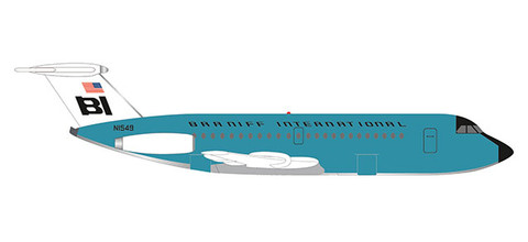 "Herpa Wings Braniff International BAC 1-11-200 ""Jelly bean Turquoise"" Scale 1/500 533010"
