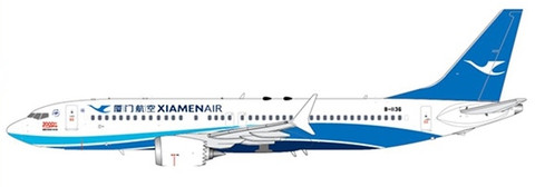 JC Wings  Xiamen Airlines Boeing 737-8 Max 2000th B-1136 With Antenna Scale 1/400 JCLH4109