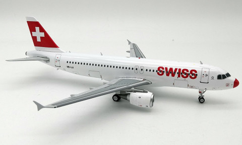 J Fox Swiss International Airlines  Airbus A320-200 HB-IJI Red nose with stand Scale 1/200 JFA320029