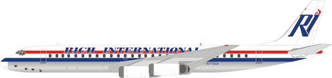 Inflight 200 Rich Douglas DC-8Series 62 N772CA With Stand Scale 1/200 IF862JN0619