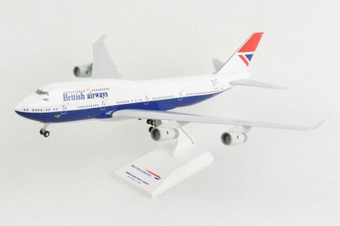 Skymarks British Airways Negus Boeing 747-400 G-CIVB 100 year anniversary with stand Scale 1/200 SKR1037
