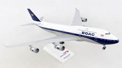 Skymarks British Airways BOAC Boeing 747-400 G-BYGC 100 year anniversary with stand Scale 1/200 SKR1015