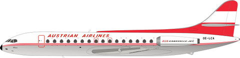 Inflight200 Austrian Airlines SE 210 Caravelle V1-R OE-LCA with stand Scale 1/200 IF210OE0719P