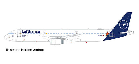 Herpa Snapfit Lufthansa Airbus A321 D-AIRY Scale 1/200 612432