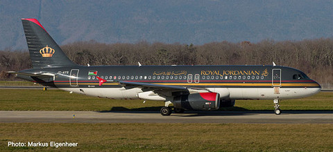 """Herpa Wings Royal Jordanian Airlines A320 """"Aqaba""""  Scale 1/500  533577"""