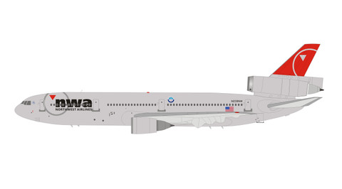 Inflight 200 Northwest DC-10 N239NW with stand Scale 1/200 IFDC10NW0619