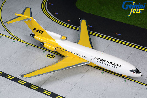 Gemini 200 Northeast Boeing 727-100 Yellowbird Livery Scale 1/200 G2NEA828