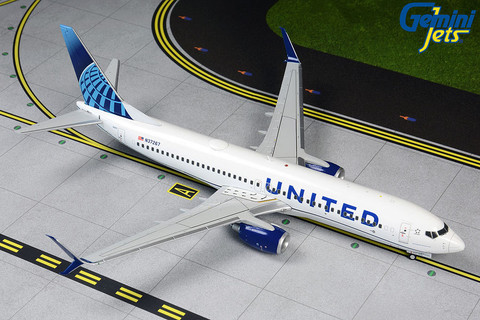 Gemini 200 United Boeing 737-800 New Livery Scale 1/200 G2UAL763
