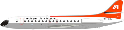 Inflight 200 Indian Airlines Caravelle SE210 VT-DVJ With Stand Scale 1/200 IF210IC0219