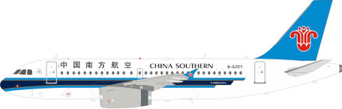Inflight 200 China Southern Airlines Airbus A319-132 B-6207 With Stand  Scale 1/200 IF319CZ001
