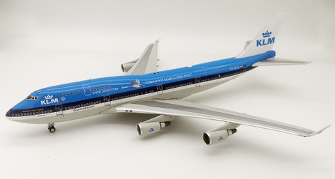 Inflight 200 KLM Royal Dutch Airlines Boeing 747-400 PH-BFV City of Vancouver  With Stand Scale 1/200 IF744KL0919