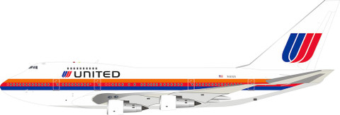 Inflight 200 United Boeing 747SP N141UA With Stand Scale 1/200 IF747SPUA1019