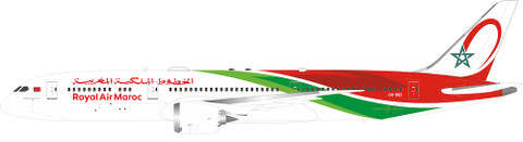 Inflight 200 Royal Air Maroc Boeing 787-9 CN-RGZ With Stand Scale 1/200 IF789CN1219