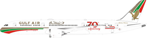 "Inflight 200 Gulf Air ""70th anniversary Boeing 787-9 A9C-FG With Stand Scale 1/200 IF789GF50"