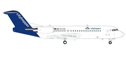 Herpa Wings KLM Cityhopper Fokker 70 Scale 1/200 570640