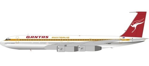 Inflight 200 Qantas Boeing 707-300 VH-EBV Polished With Stand Scale 1/200 IF707QF1119P