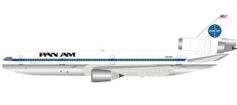 Inflight 200 Pan Am Douglas DC-10  Series 30 N84NA polished With Stand Scale 1/200 IFDC10PA1019P