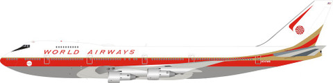 Inflight 200 World Airways Boeing 747-200 N492EV With Stand Scale 1/200 IF742WA0120
