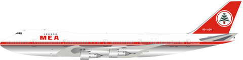 Inflight 200 MEA Middle East Airlines  Boeing 747-200 OD-AGH With Stand Scale 1/200 IF742ME1219P