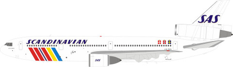 Inflight 200 SAS Scandinavian Airlines Douglas DC10-30 OY-KDA With Stand Scale 1/200 IFDC10SK1218