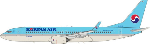 J Fox Models Korean Air Boeing 737-8LH HL8246  with stand Scale 1/200 JF7378014