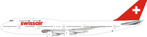 Blue Box Swissair Boeing B747-300 HB-IGC With Stand  Scale 1/200 WB743SR12