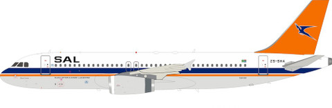 Inflight 200 South African Airways Airbus A320-231 ZS-SHA with stand Scale 1/200 IF320SAL0818