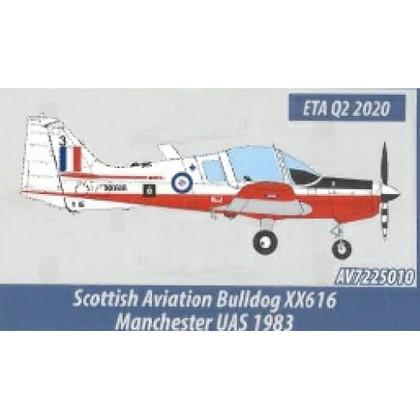 Aviation 72 Scottish Aviation Bulldog XX616 Manchetser Scale 1/72 AV7225010