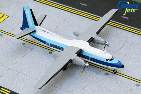 Gemini 200 NLM Cityhopper Fokker F-27 Friendship PH-KFE Scale 1/200 G2KLM845