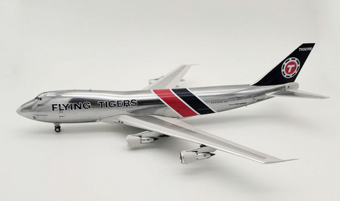 Inflight 200 Flying Tigers Boeing 747-200 N815FT with stand Scale 1/200 IF742FT0620P