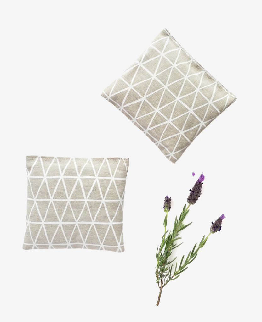 Flax Triangle Lavender Sachet