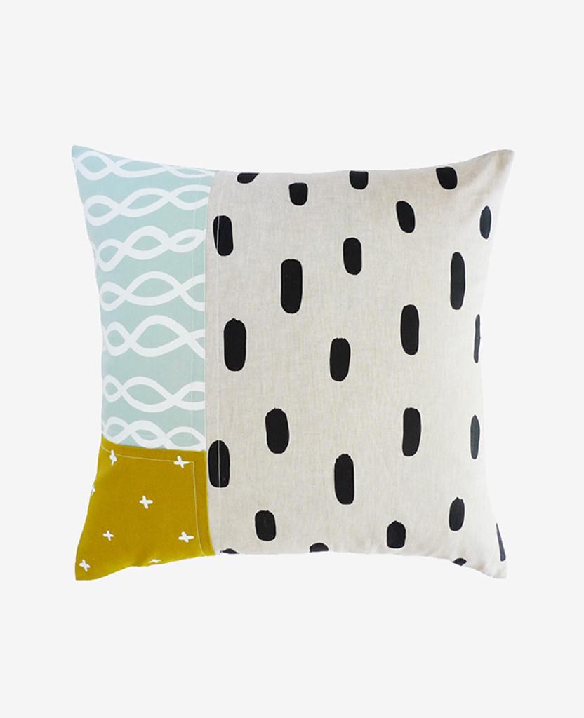 Shallow Tide Patchwork Pillow