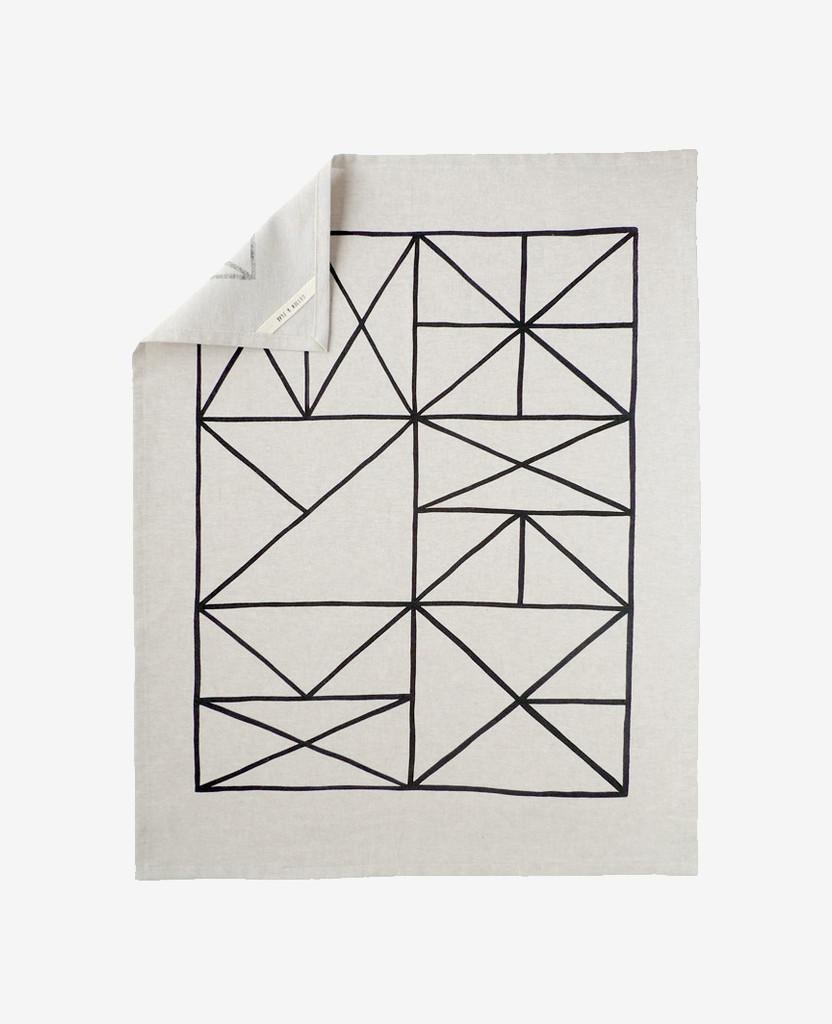 Grid Tea Towel