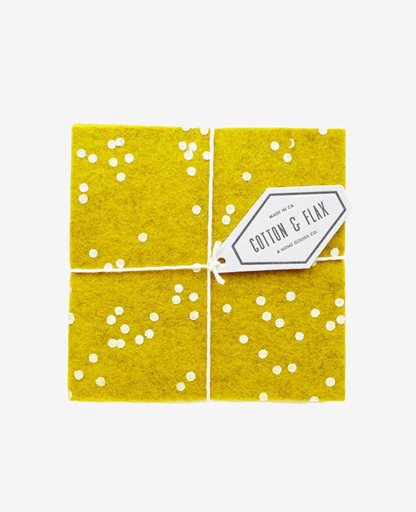 Gold Confetti Coasters