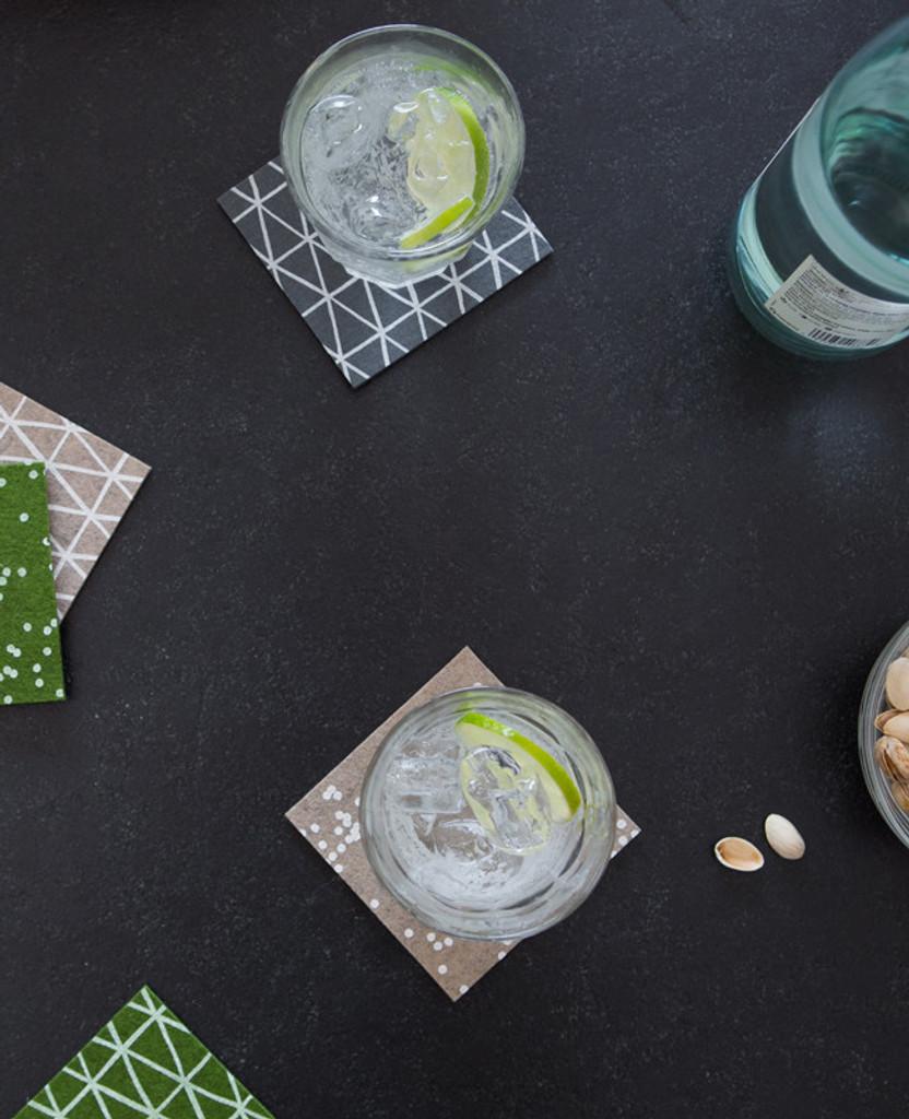 Latte Confetti Coasters