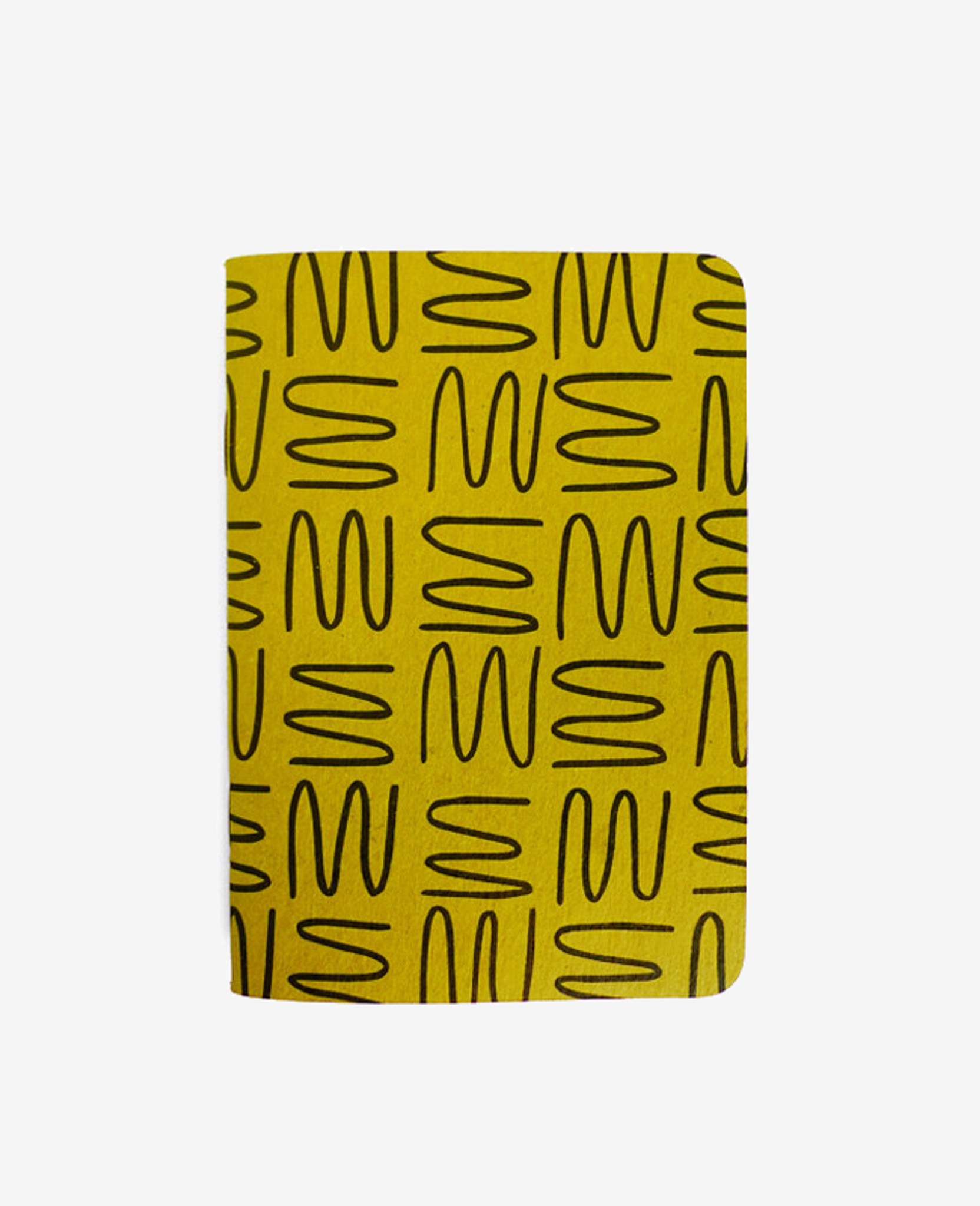 Gold Squiggle Notebook