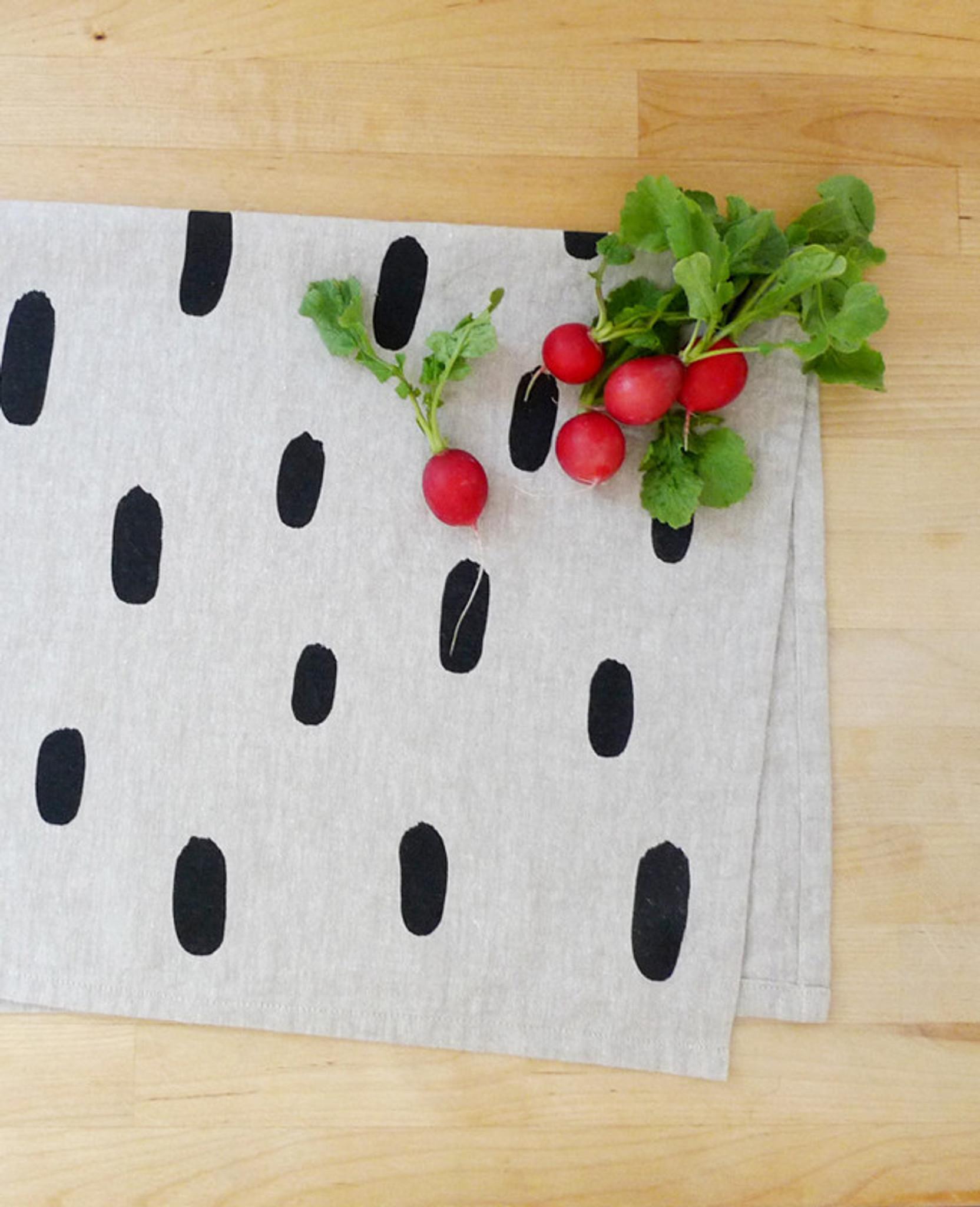 Brushstroke Linen Tea Towel